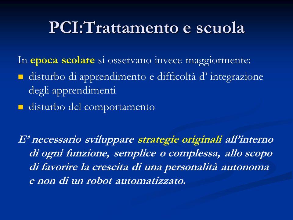 PCI:Trattamento e scuola