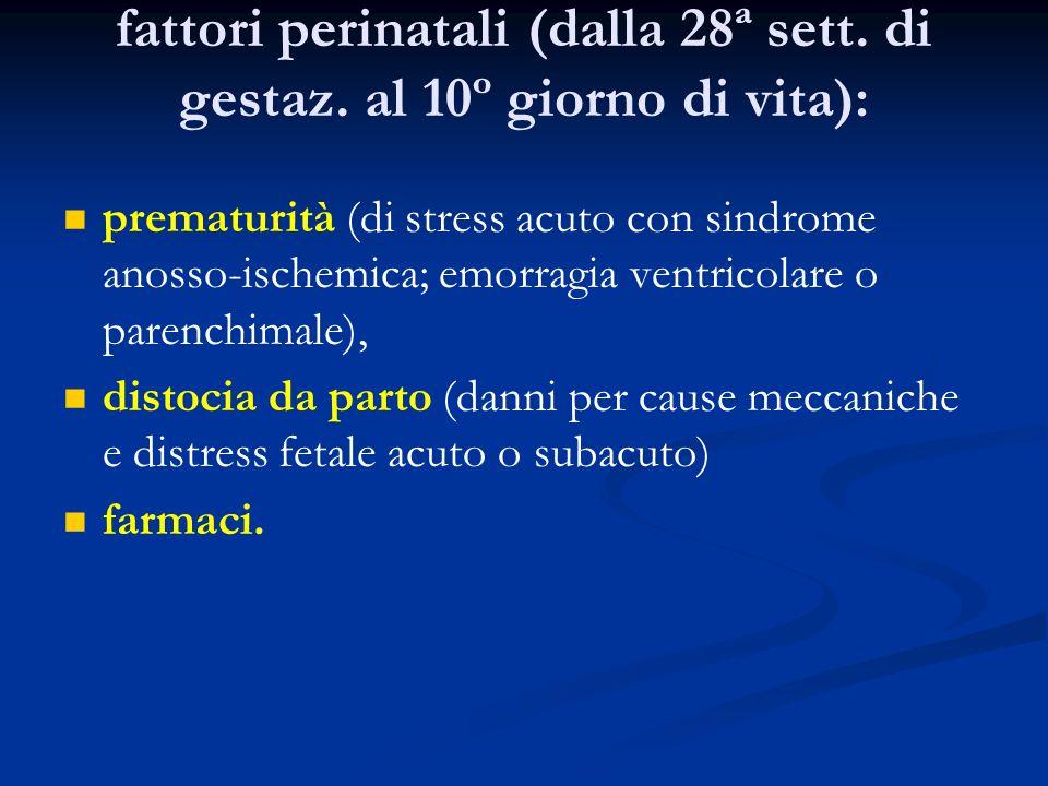 fattori perinatali (dalla 28ª sett. di gestaz. al 10º giorno di vita):