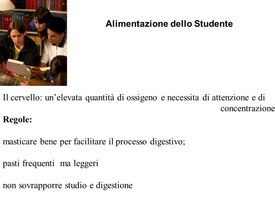 Alimentazione dello Studente
