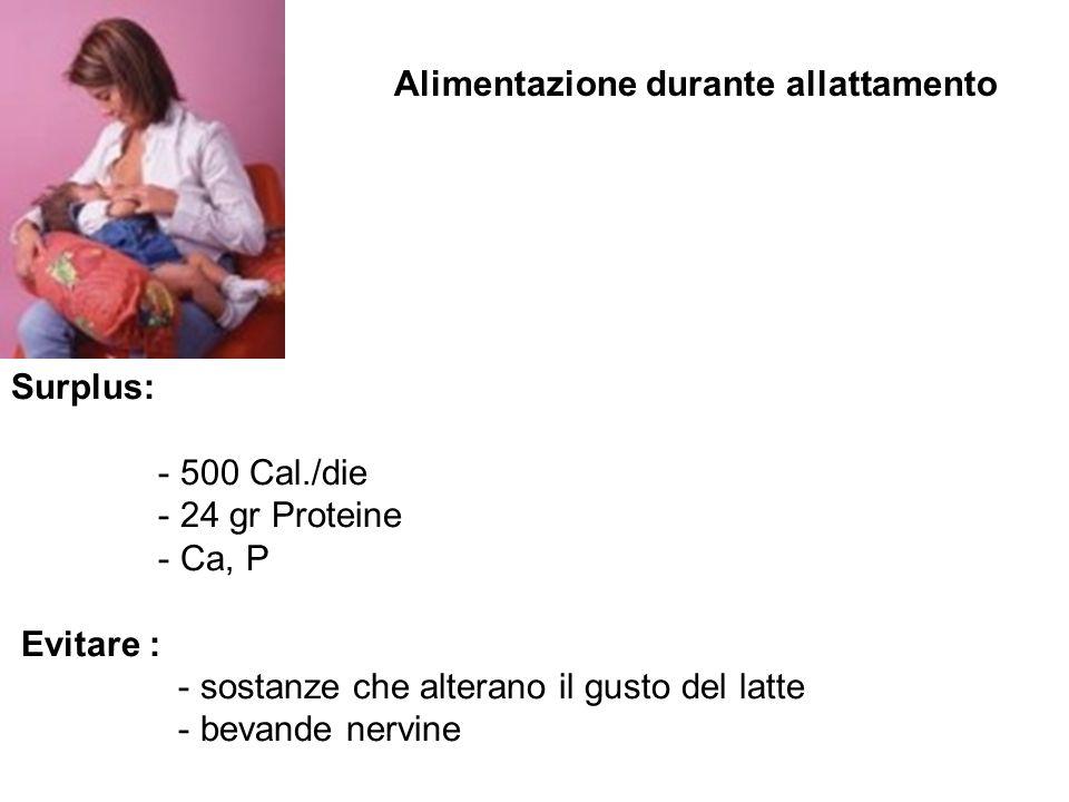 Alimentazione durante allattamento