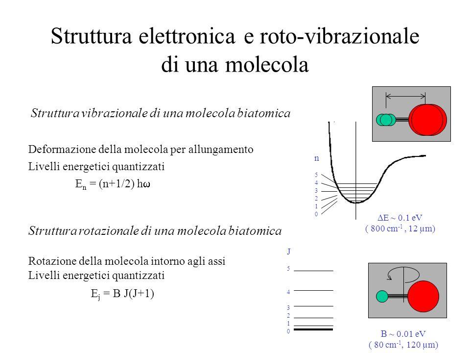 Struttura elettronica e roto-vibrazionale di una molecola