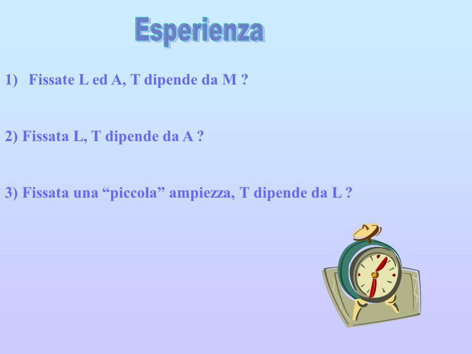 Esperienza Fissate L ed A, T dipende da M