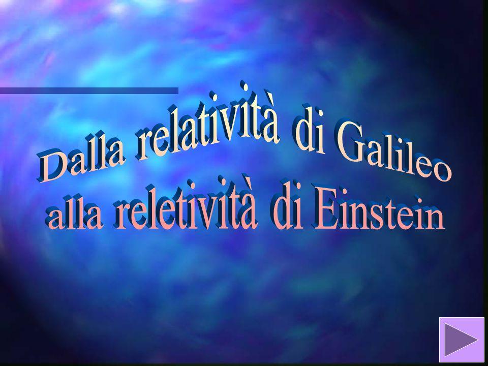 Dalla relatività di Galileo alla reletività di Einstein