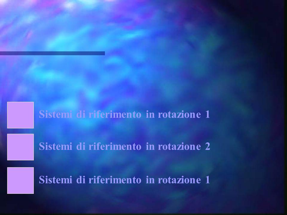 Sistemi di riferimento in rotazione 1