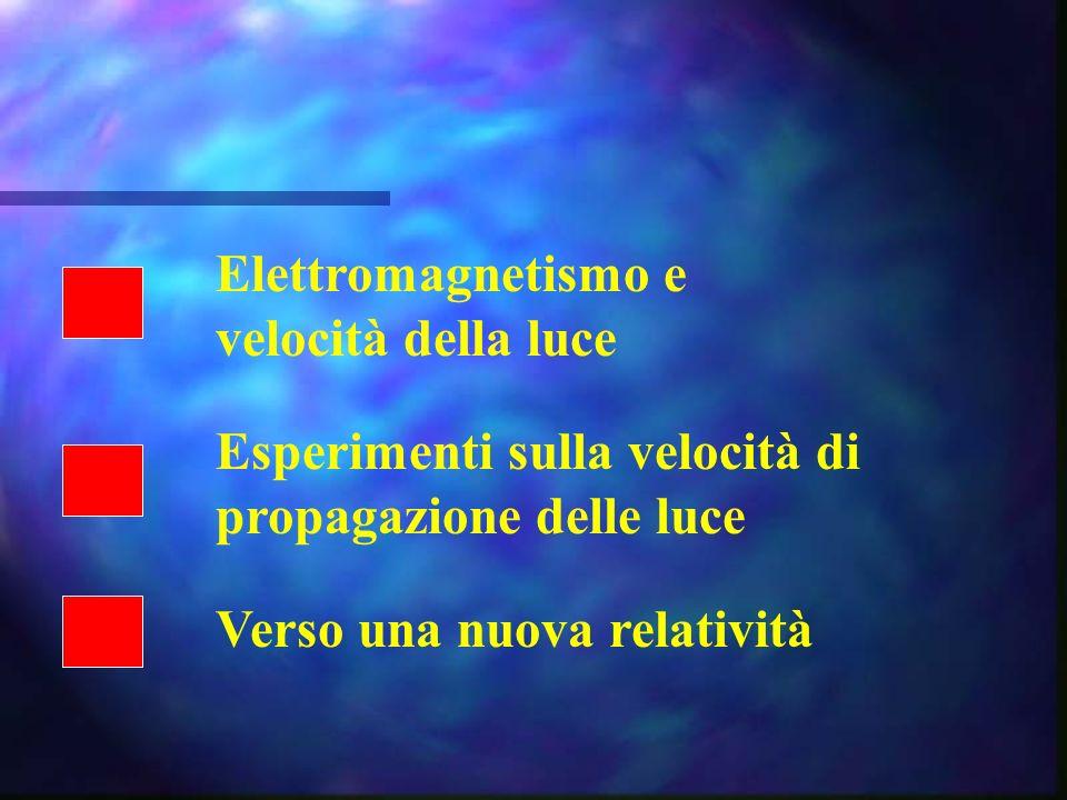 Elettromagnetismo e velocità della luce. Esperimenti sulla velocità di.