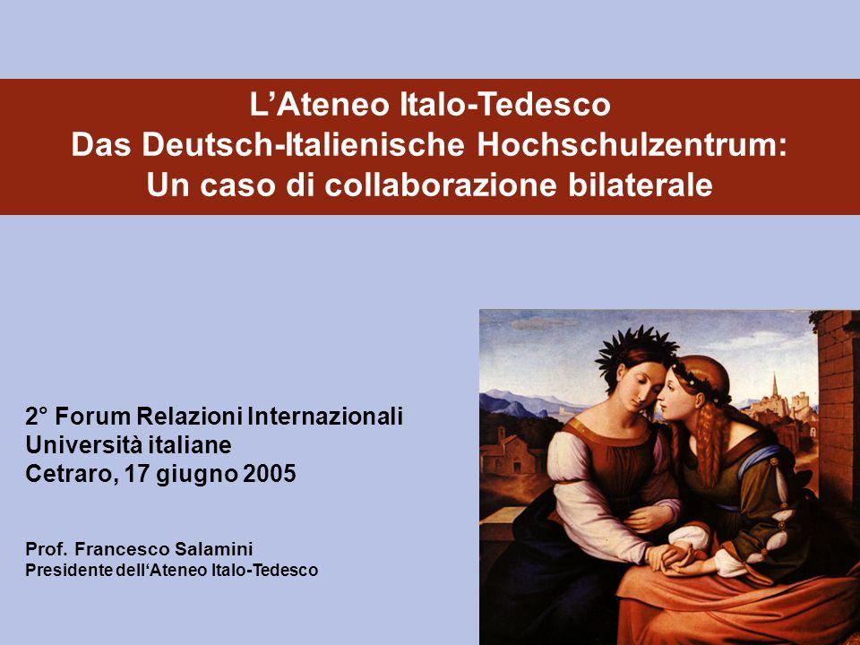 L'Ateneo Italo-Tedesco Das Deutsch-Italienische Hochschulzentrum: