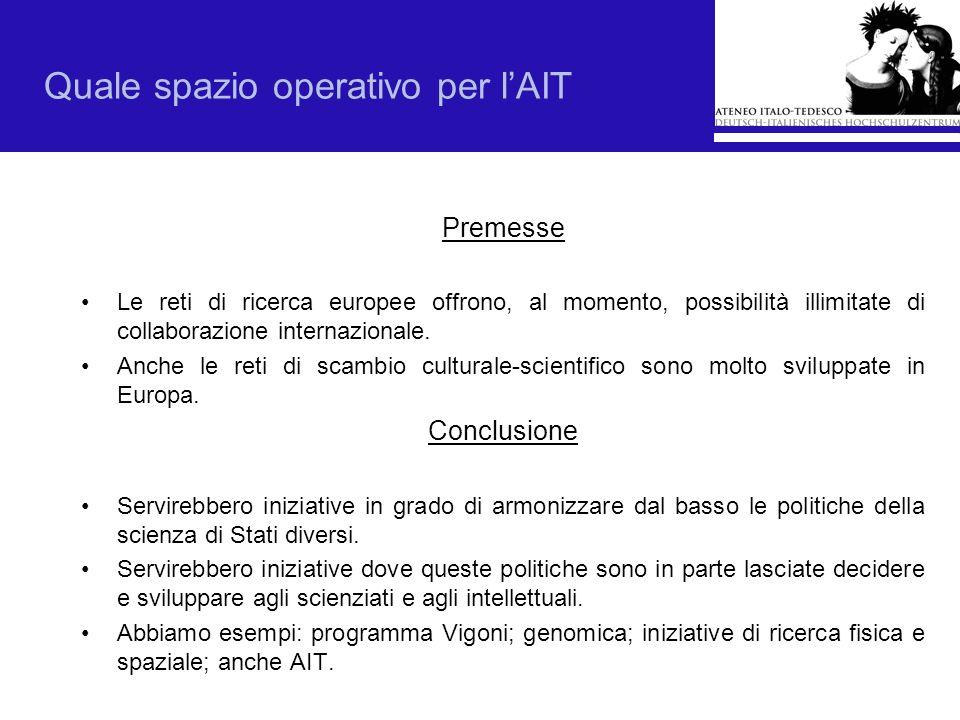 Quale spazio operativo per l'AIT