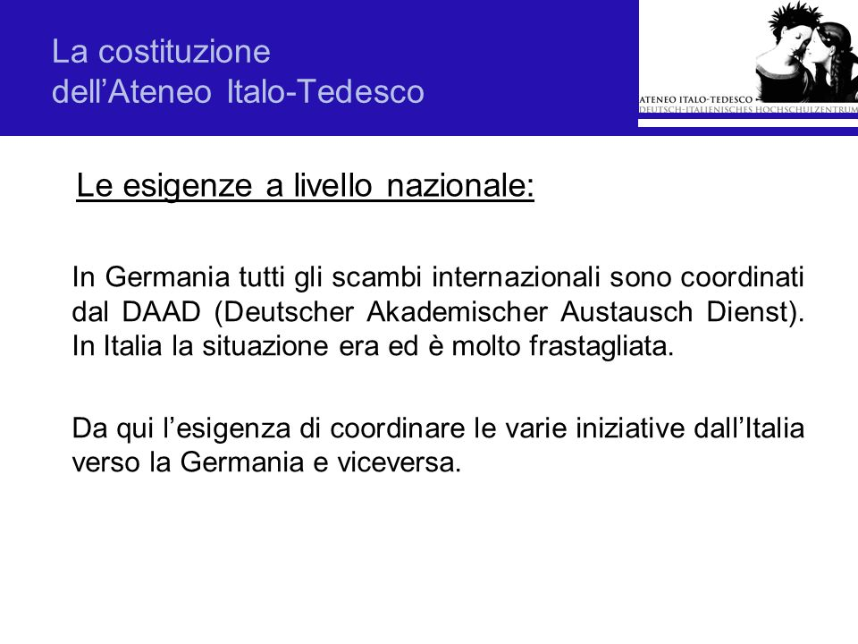 La costituzione dell'Ateneo Italo-Tedesco