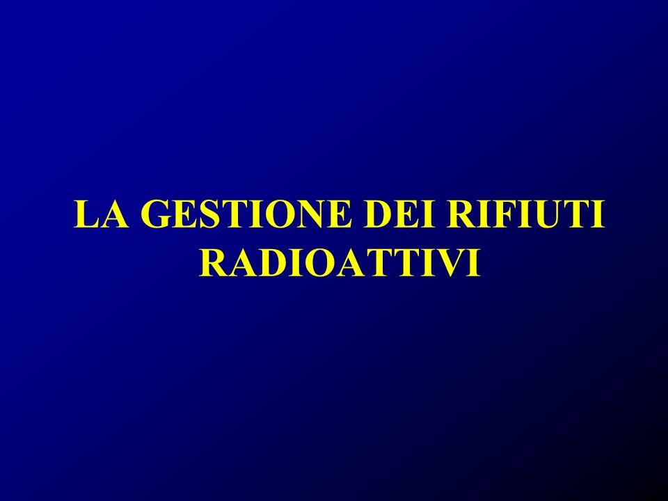 LA GESTIONE DEI RIFIUTI RADIOATTIVI