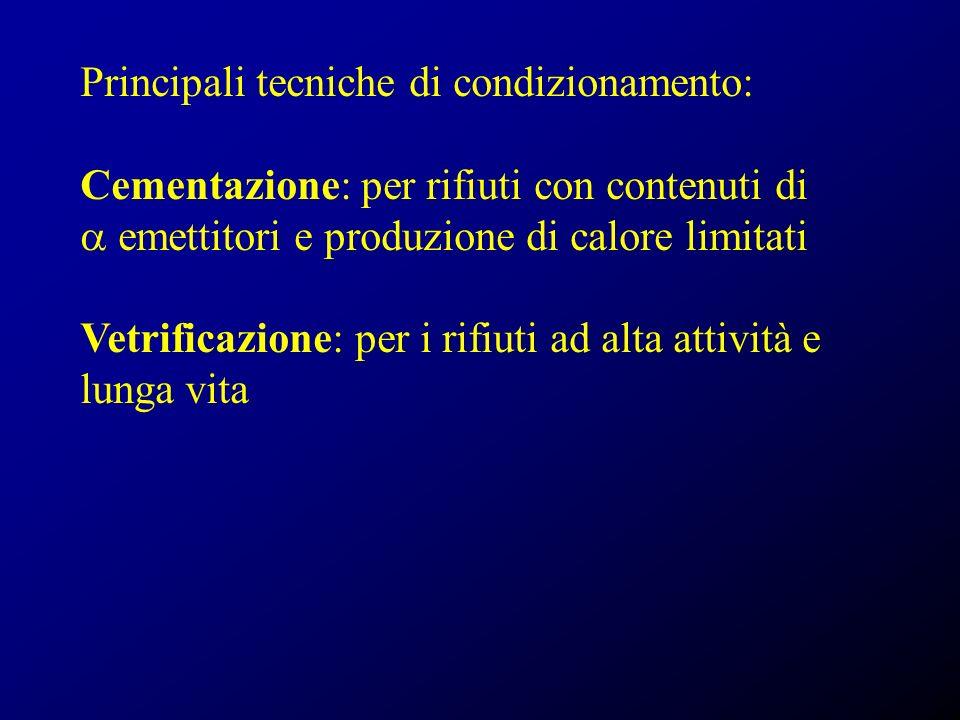 Principali tecniche di condizionamento: