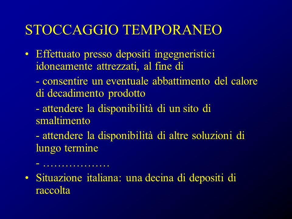 STOCCAGGIO TEMPORANEO