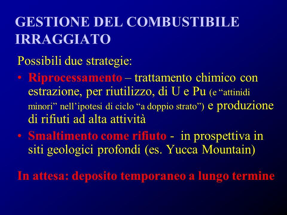 GESTIONE DEL COMBUSTIBILE IRRAGGIATO