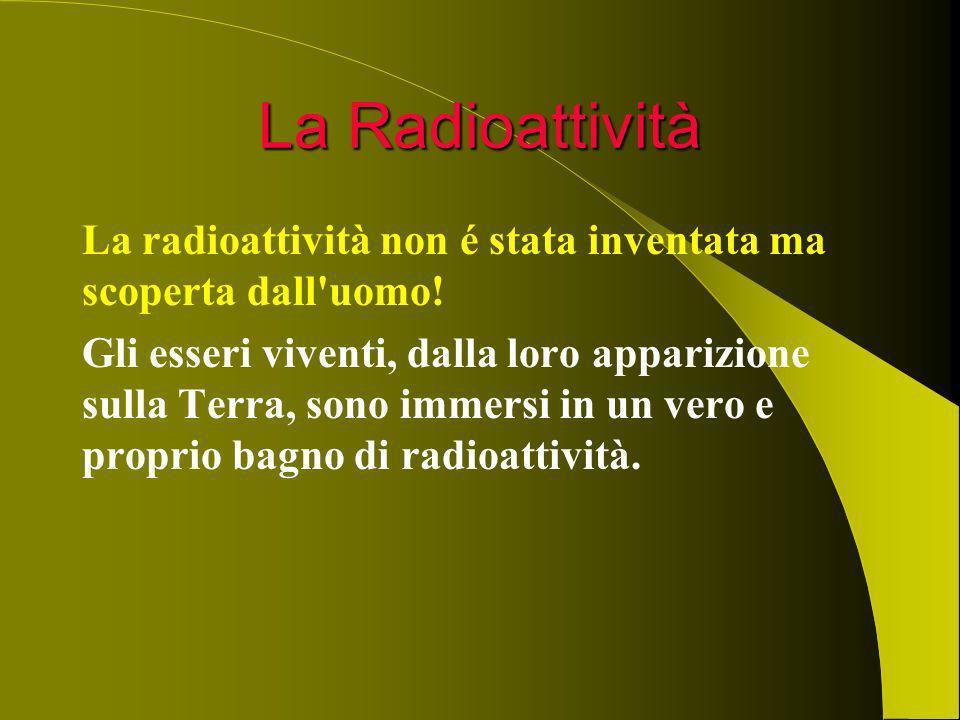 La Radioattività La radioattività non é stata inventata ma scoperta dall uomo!