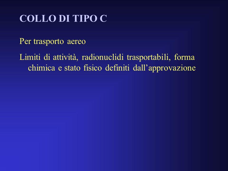 COLLO DI TIPO C Per trasporto aereo