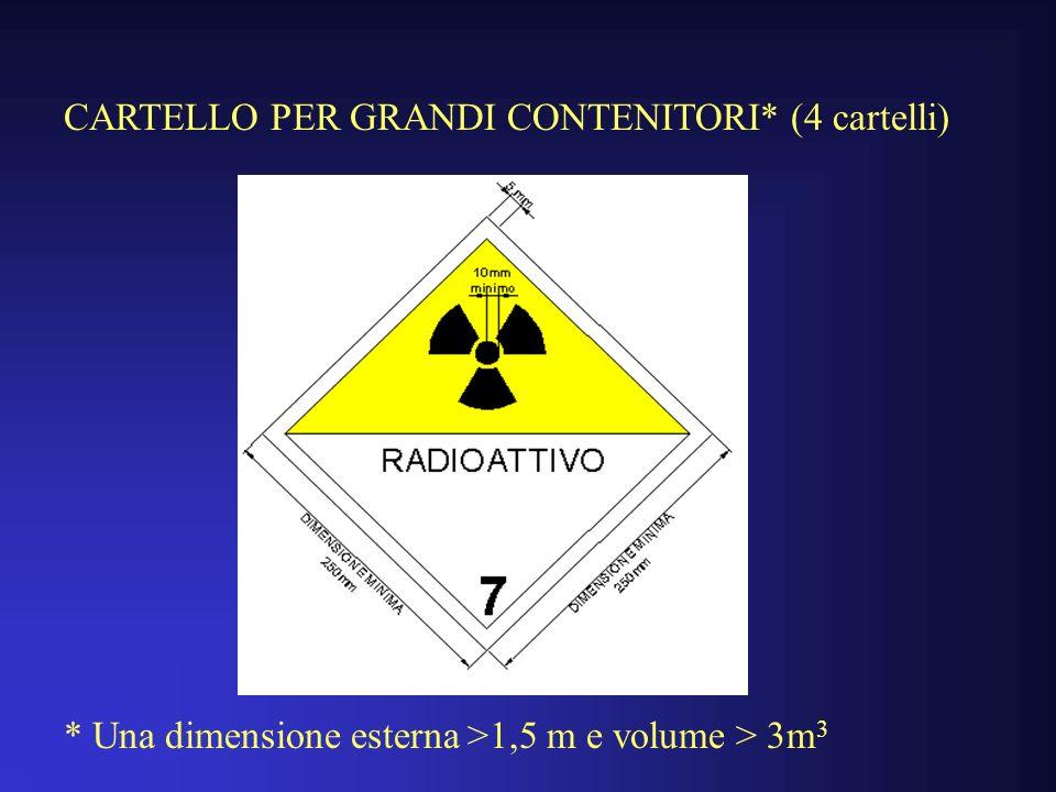 CARTELLO PER GRANDI CONTENITORI* (4 cartelli)
