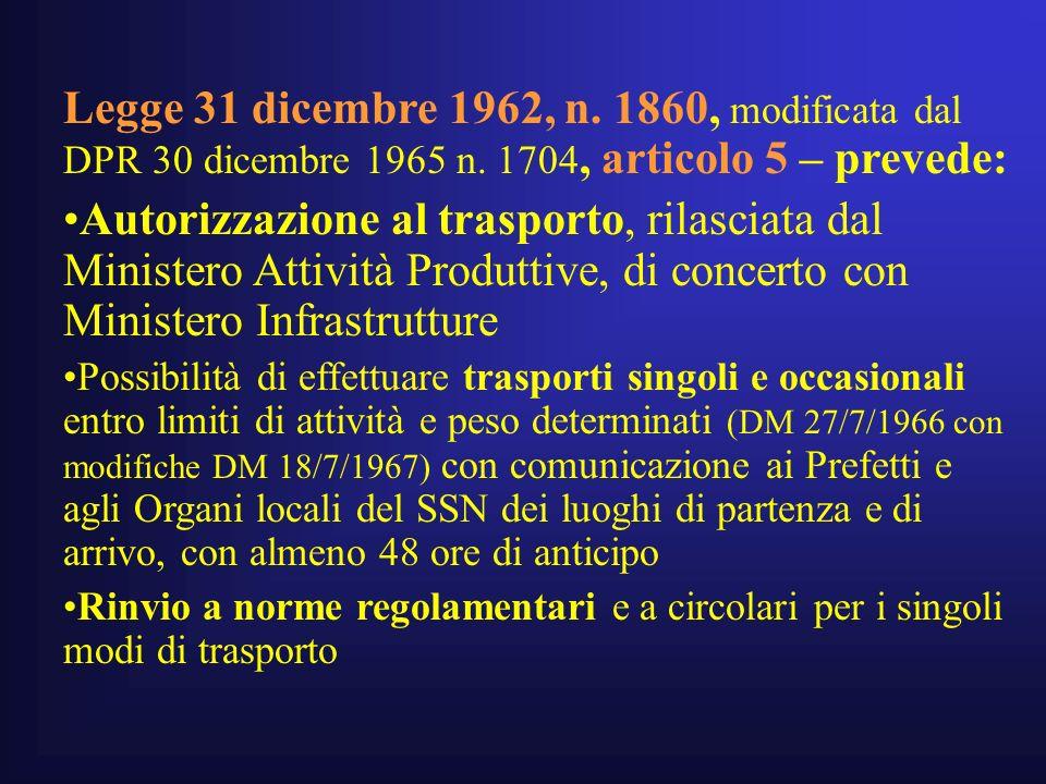 Legge 31 dicembre 1962, n. 1860, modificata dal DPR 30 dicembre 1965 n