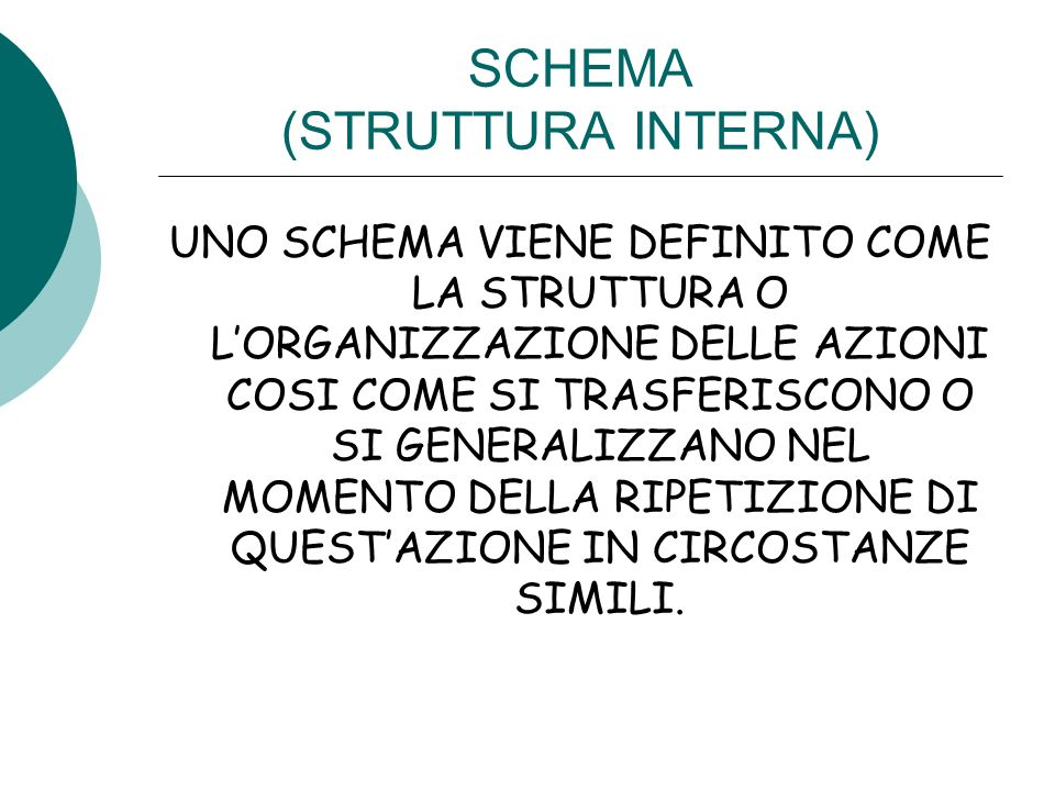 SCHEMA (STRUTTURA INTERNA)