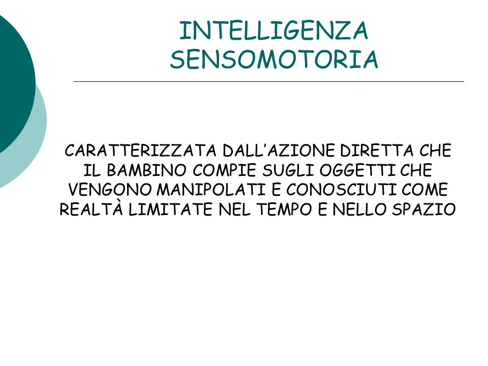 INTELLIGENZA SENSOMOTORIA