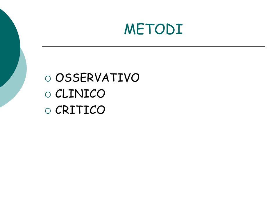METODI OSSERVATIVO CLINICO CRITICO