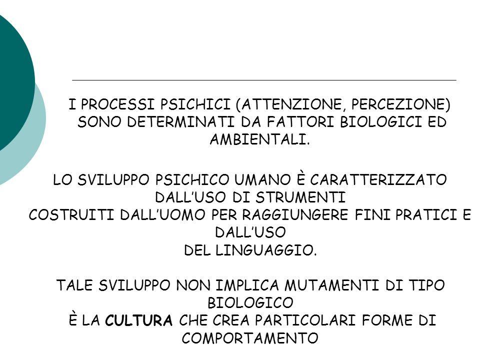 I PROCESSI PSICHICI (ATTENZIONE, PERCEZIONE)