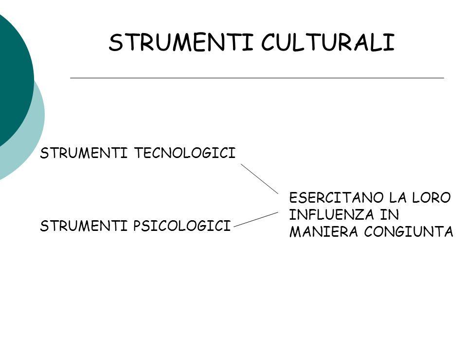 STRUMENTI CULTURALI STRUMENTI TECNOLOGICI STRUMENTI PSICOLOGICI