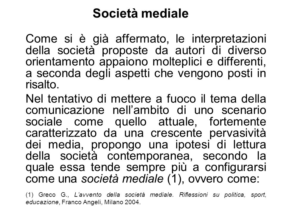 Società mediale