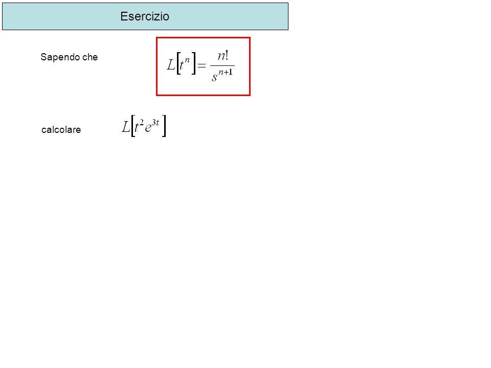 Esercizio Sapendo che calcolare