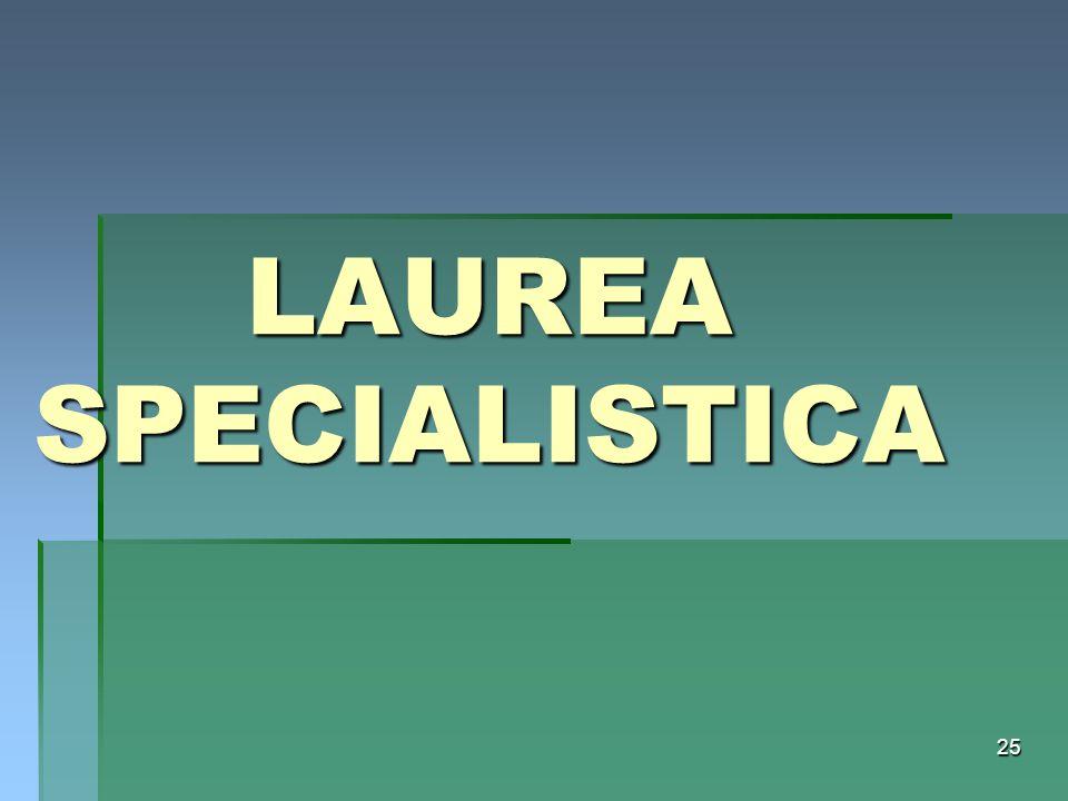 LAUREA SPECIALISTICA