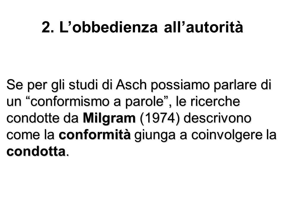 2. L'obbedienza all'autorità