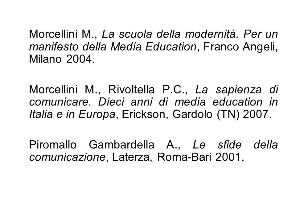 Morcellini M. , La scuola della modernità