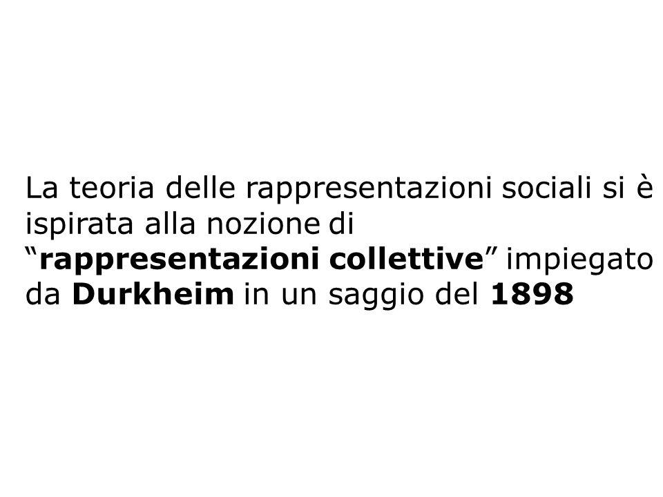 La teoria delle rappresentazioni sociali si è ispirata alla nozione di rappresentazioni collettive impiegato da Durkheim in un saggio del 1898