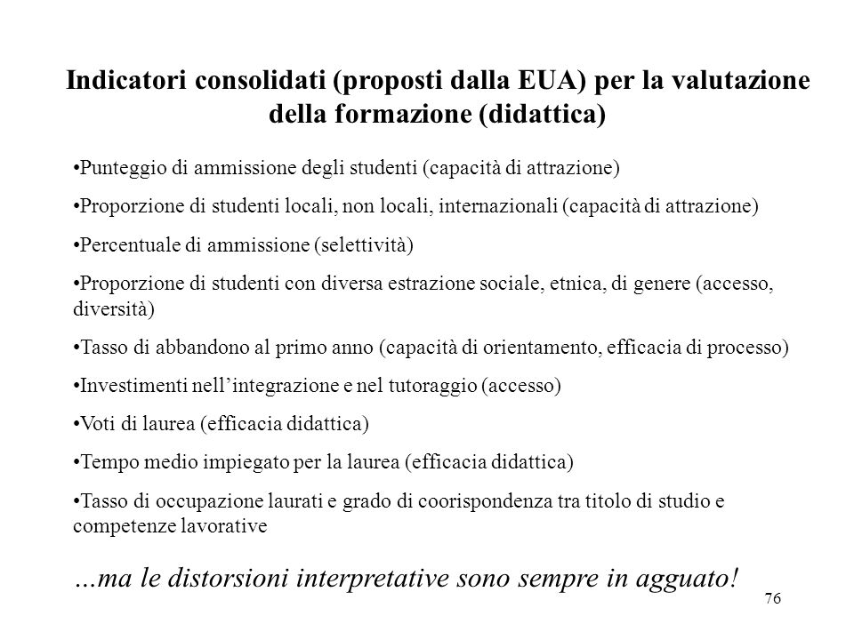 …ma le distorsioni interpretative sono sempre in agguato!