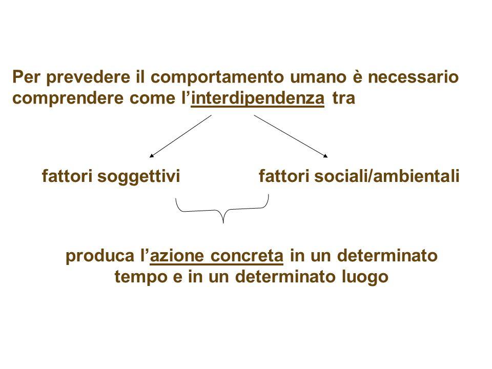 Per prevedere il comportamento umano è necessario comprendere come l'interdipendenza tra