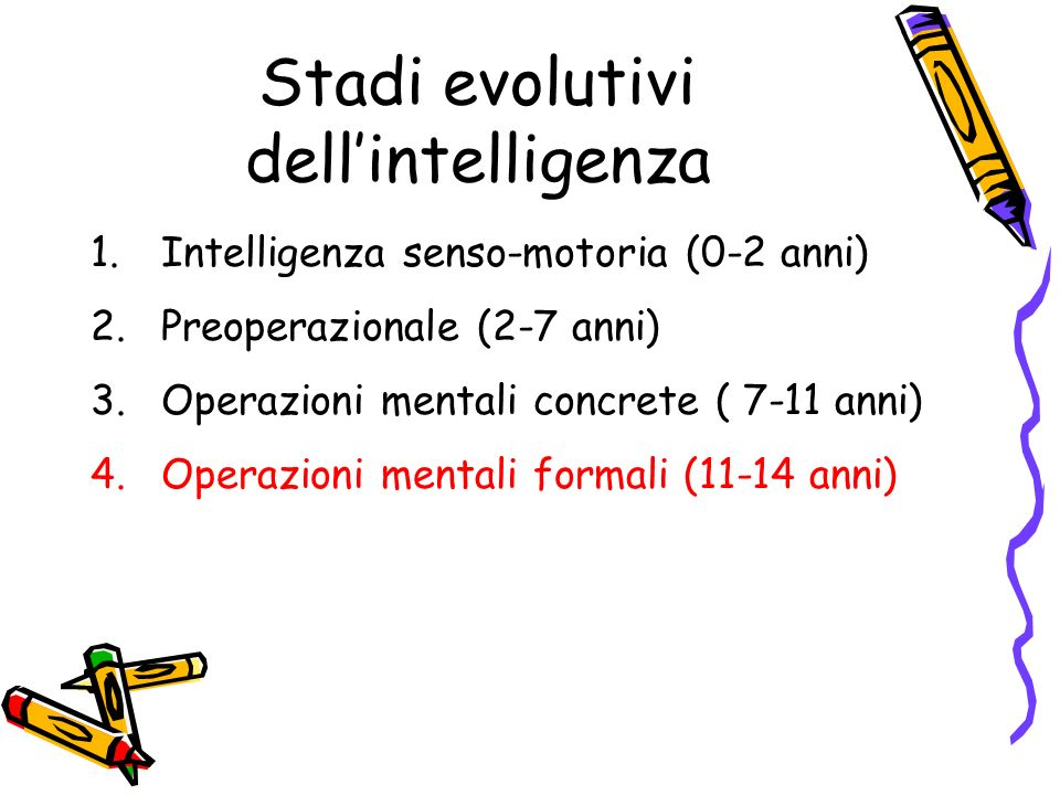 Stadi evolutivi dell'intelligenza
