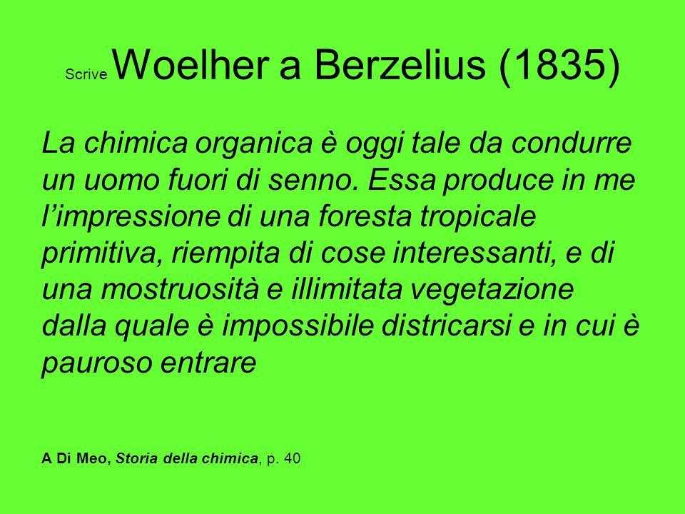 Scrive Woelher a Berzelius (1835)