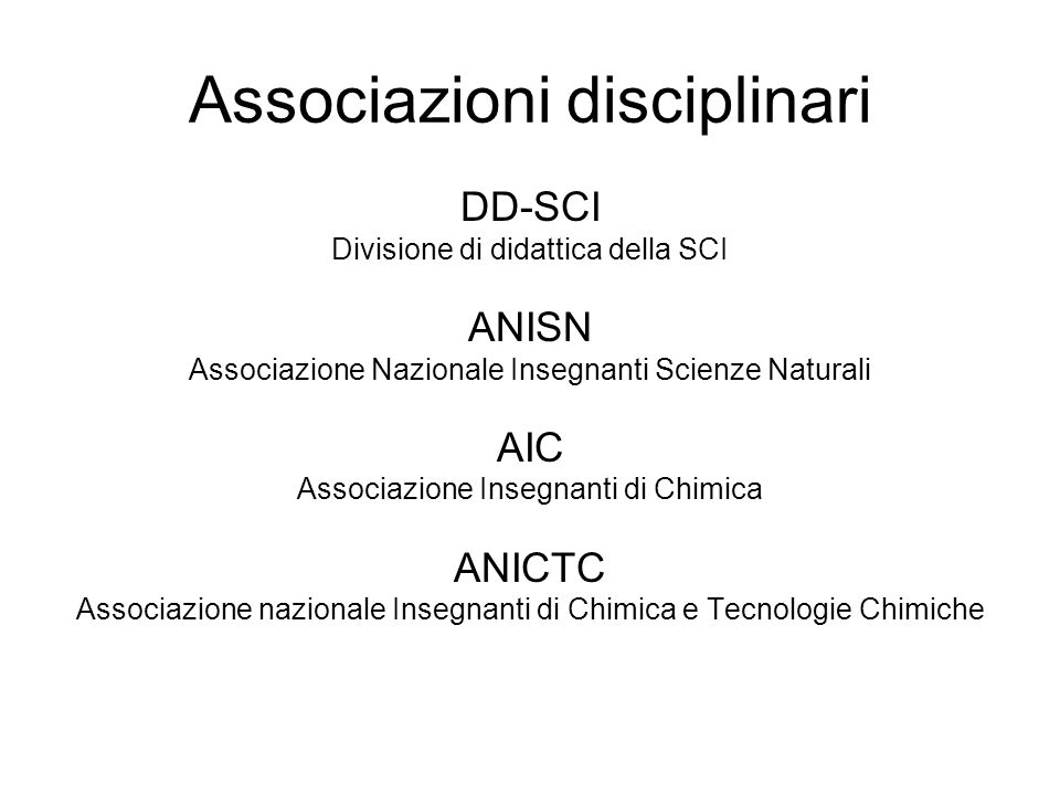 Associazioni disciplinari
