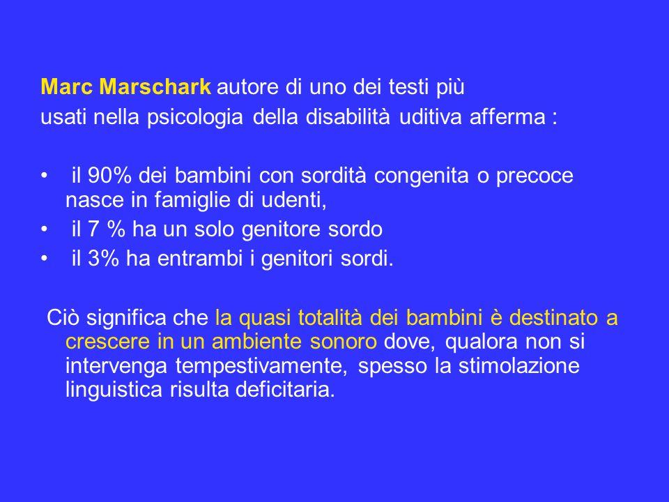 Marc Marschark autore di uno dei testi più
