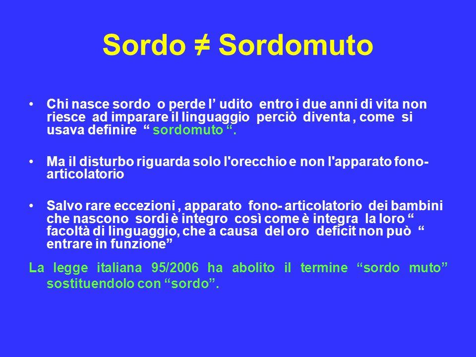 Sordo ≠ Sordomuto