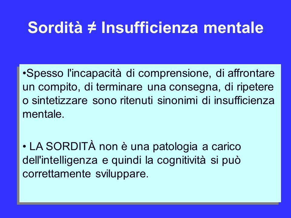 Sordità ≠ Insufficienza mentale