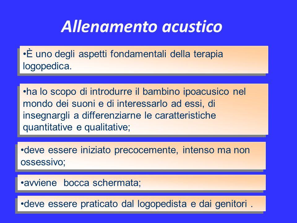 Allenamento acustico È uno degli aspetti fondamentali della terapia logopedica.
