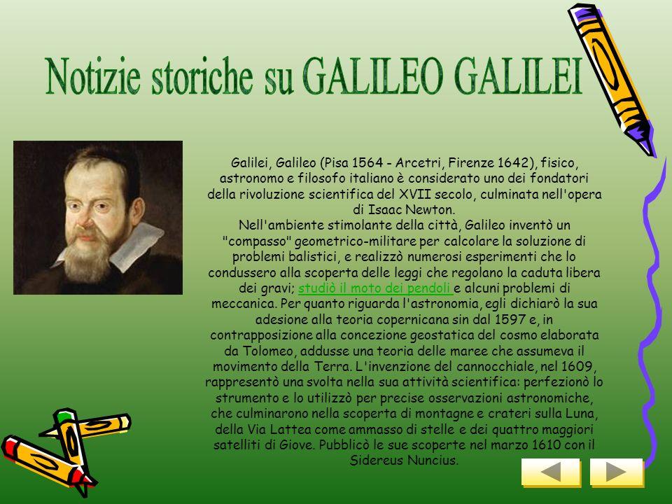 Notizie storiche su GALILEO GALILEI