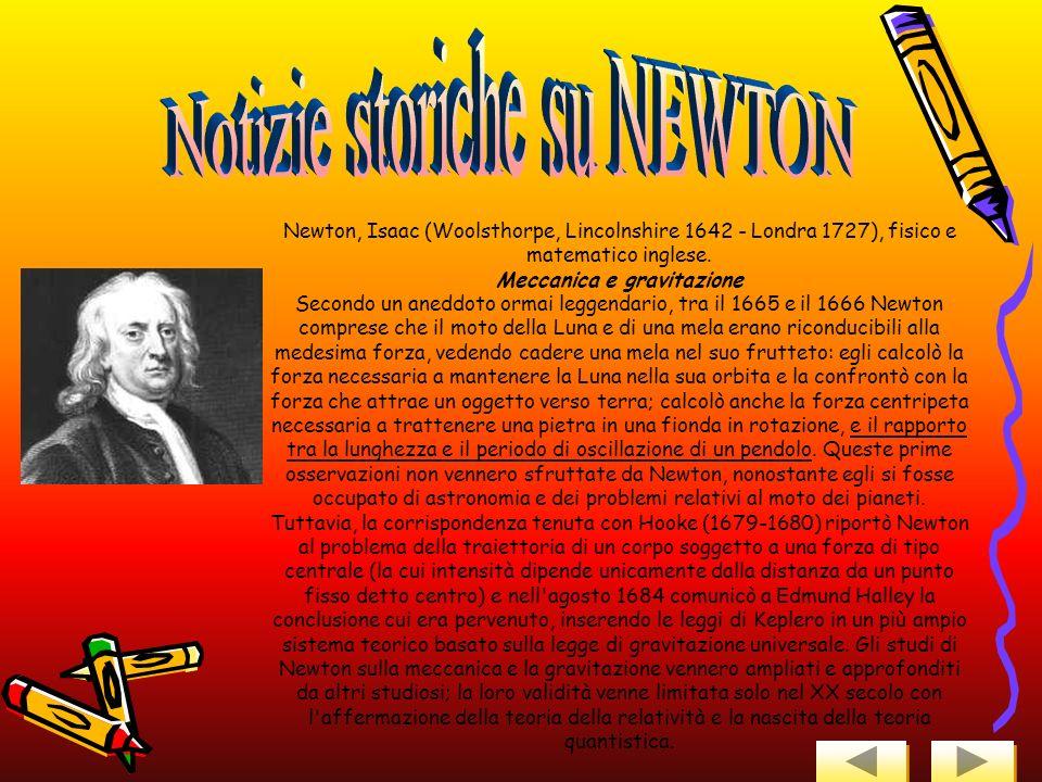 Notizie storiche su NEWTON