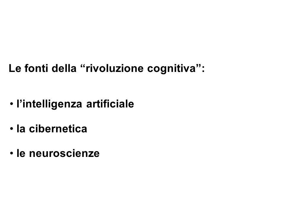 Le fonti della rivoluzione cognitiva :