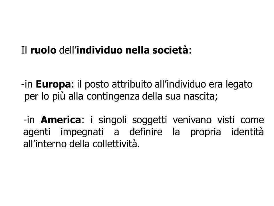 Il ruolo dell'individuo nella società: