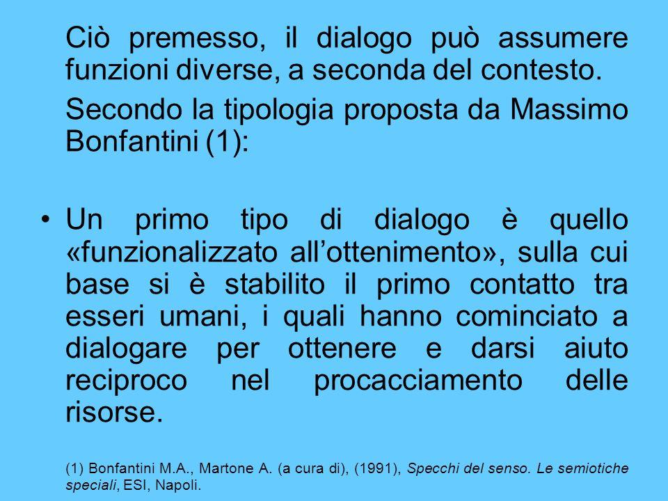 Secondo la tipologia proposta da Massimo Bonfantini (1):