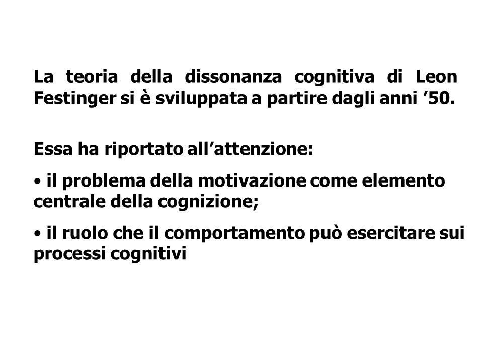 La teoria della dissonanza cognitiva di Leon Festinger si è sviluppata a partire dagli anni '50.