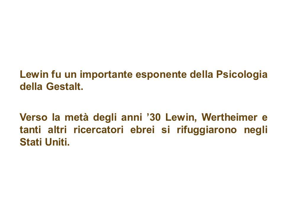 Lewin fu un importante esponente della Psicologia della Gestalt.