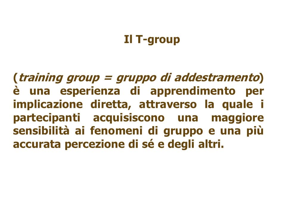 Il T-group