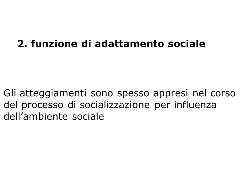 funzione di adattamento sociale