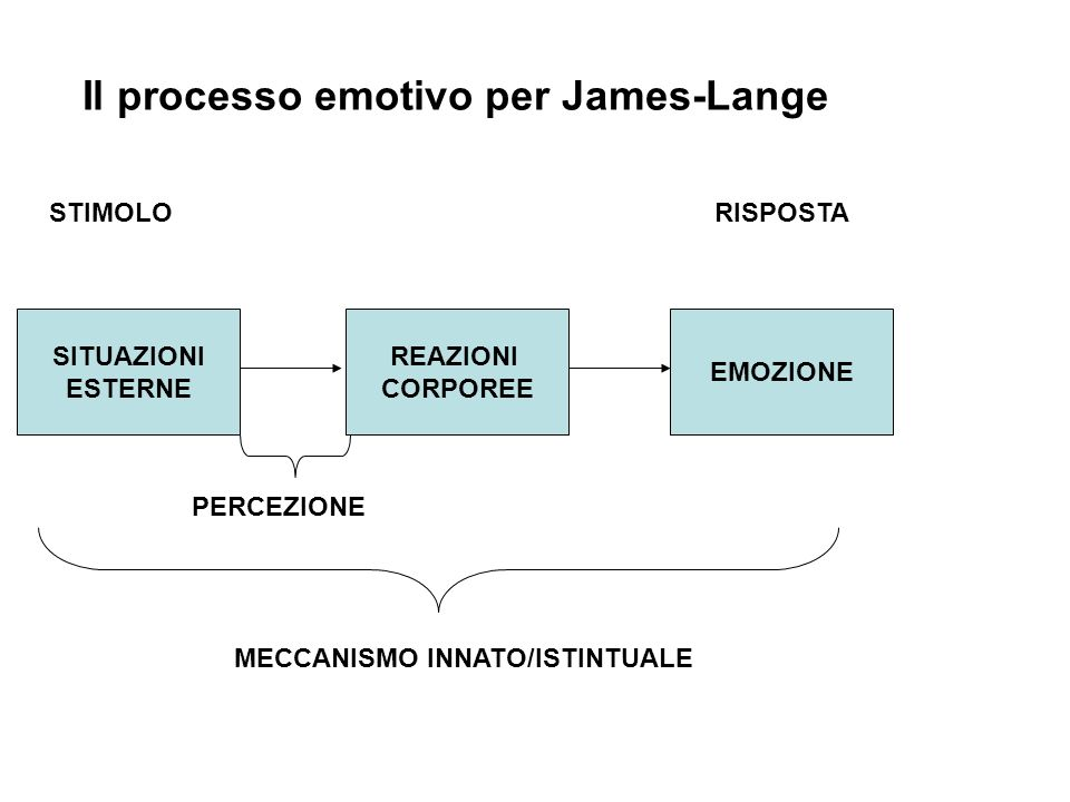 Il processo emotivo per James-Lange